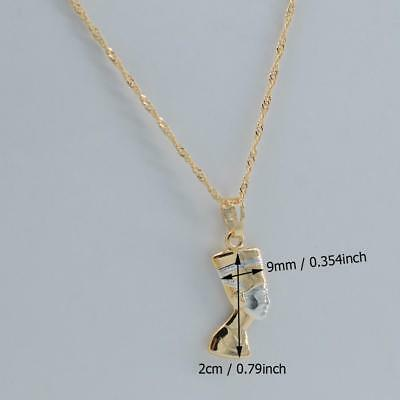 Ancient Egyptian Queen Nefertiti Necklace Pendant Light Gold Color/Silver with c