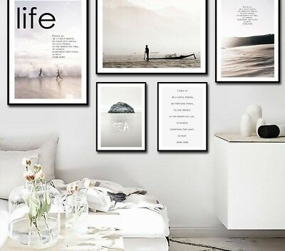 Motivational Poster And Prints Life Quote Wall Art Canvas Picture Home Decor New