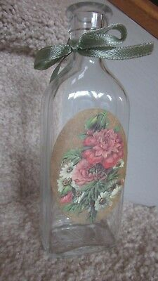 Glass Medicine Bottle Embossed WT in Inverted Triangle Whitall Tatum Vintage VGC
