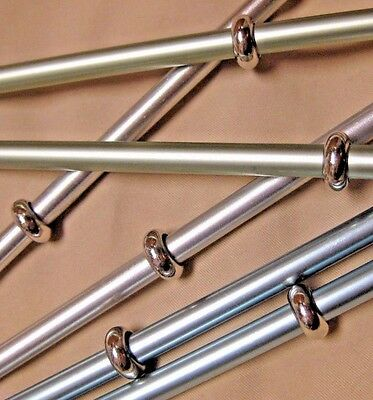 6 New Sleek Silver Knitting Stitch Markers Up To Us 10.5 Needles