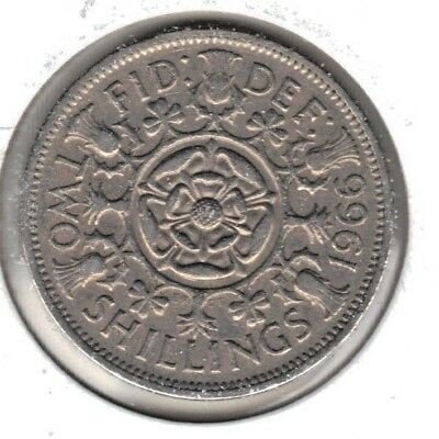 Great Britain 1966 Florin ,two Shilling Coin