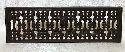 """Vintage Cast Iron Vent Grate Register Cover with Pull Handle 6.5""""x20.5"""""""
