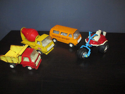 Vintage 70 S Tonka Mini Trucks Lot Of 5 Cement Truck Dump Truck