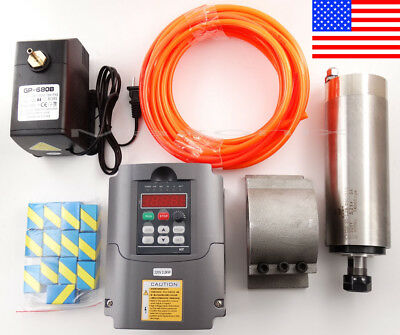 2.2KW Spindle Motor w/ Mount + Variable Frequency Driver VFD + ER20 + Water-pump