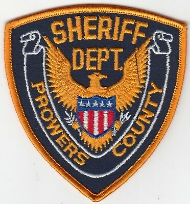 Older Prowers County Sheriff Department Colorado Co Police Patch