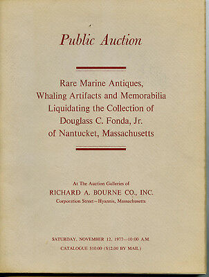 R A Bourne Auction-1977-Douglass C Fonda Jr-Marine Antiques-Whaling-Nantucket Ma