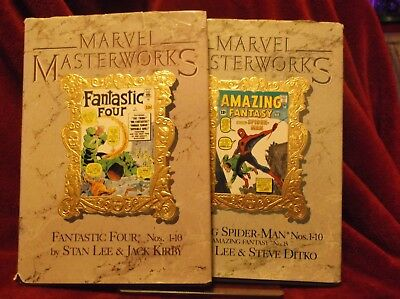 Marvel Masterworks Hardcover Lot Of 2 SPIDER-MAN & FF * Readers Copies * CHEAP!