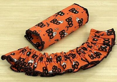 Holiday Basket Accessories Lot: Orange Halloween Small Garter and Gripper