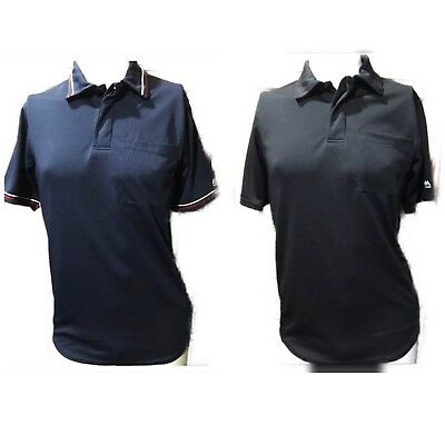 Lot Of Two Umpire Adult Small SS Polo Shirts Unisex Baseball Majestic Black Blue