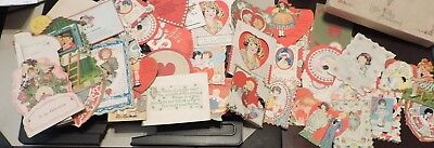 Lot of 46 Various 1920's and up Vintage VALENTINES (two open up)