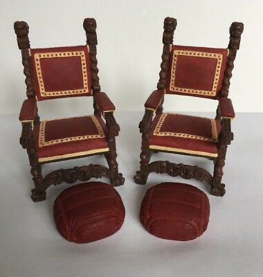 Lot Dollhouse Furniture Chairs Take A Seat Raine Mr. Vanderbilt c.1895 Collect