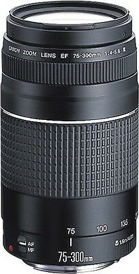 Canon EF 75-300mm f/4-5.6 III Telephoto Zoom Lens for Canon SLR Cameras NEW USA