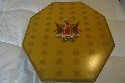 VINTAGE OCTAGONAL KNOX HAT BOX with INSIDE ACCESORIES