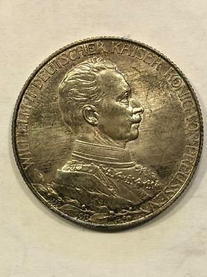 2 Mark 1913 A Prussia state Germany Silver UNC KM 533    BD47