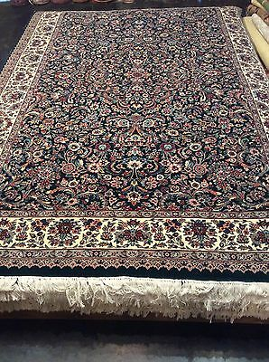 Fine Persian- Pak Floral 6x9 rug. Hand Knotted. 100% wool pile. 16/18  high kpsi