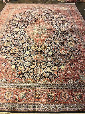"Large Persian Kashmiri / Silk. Rug 11'10"" x 17'10"" Hand Knotted in India."