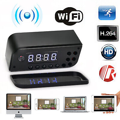 HD 1080P Wifi IP Spy Camera Motion Security Alarm Clock IR Cam/4K Hidden Camera