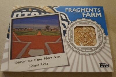 2016 Topps Pro Debut Fragments Of The Farm Game Used Home Plate Lake County