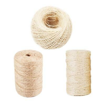 100M Natural Jute Hemp Rope Twine String Cord Shank Crafts String DIY Making