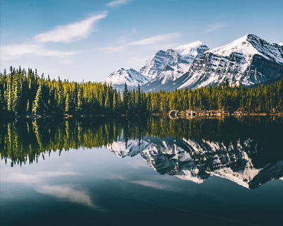 """Digital Wallpaper, Photo, Picture Free Shipping, """"Lake Reflection"""" - FAST"""