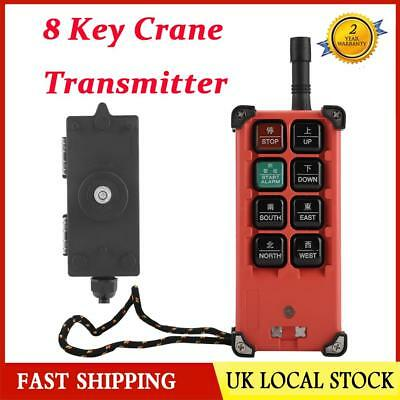 8 Key Crane Industrial Remote Control Wireless Transmitter Push Button Switch UK