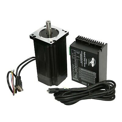 Free Ship NEMA34 Closed-Loop Stepper Motor 1700oz.in 12N.m 6A+3m Cable&HBS86H