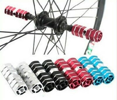 Alloy Mountain MTB Bike Bicycle Axle Pedals Foot Stunt Pegs 1 Pair WE9X