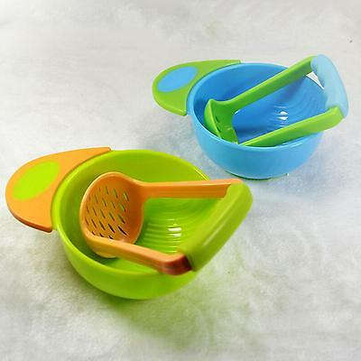 Manual Infant Baby Kids Food Fruit Supplement Hand Grinding Bowl & Rod Set