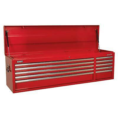 Sealey Heavy-Duty Topchest 10 Drawer With Ball Bearing Runners - Red - AP6610