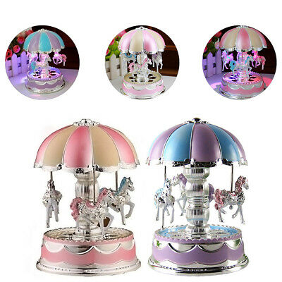 Toys For Girls Music Box Merry-Go-Round LED 6-15 Years Old Kids Birthday Gift