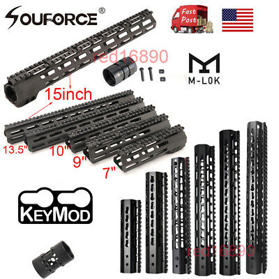 US 7-15inch Slim free Float KEYMOD/M-lok Handguard 20mm picatinny rail Mount&Nut