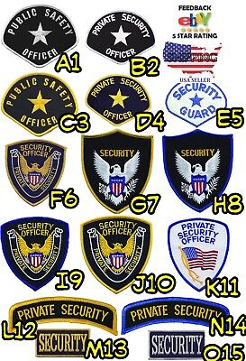 Private Security Officer White Black Royal Blue Yellow Patches Public Safety