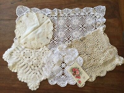 Vintage Estate Bulk Collectable 5 Crochet Lace Doiley Table Runner Vanity Lot 2