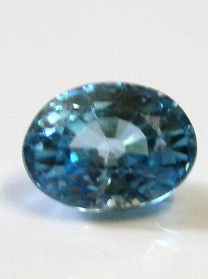 Natural earth-mined blue zircon quality gem ...2 carat