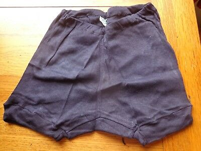 VINTAGE 50/60s NAVY BLUE COTTON REGULATION SCHOOL KNICKERS IN A SIZE 12