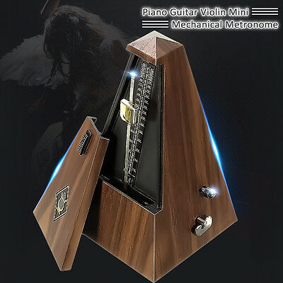Music Timer Antique Metronome Mechanical Teak Wood Vintage Style Classical Woode