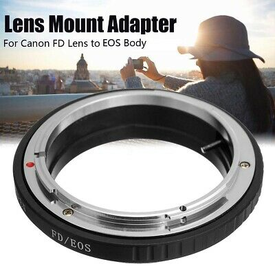 Mount Adapter Ring FD Lens For canon To  EOS EF Camera No Glass
