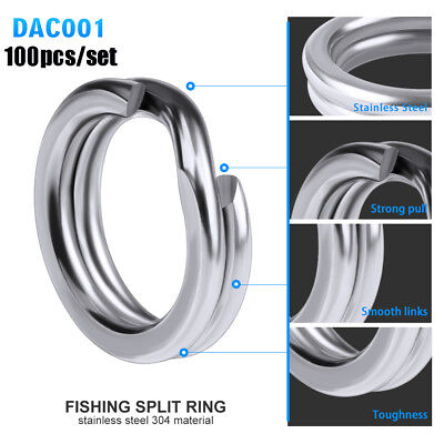 Tackle Double Swivel Snap Fishing Split Rings Fish Connector Stainless Steel