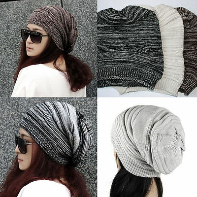 Women Men Warm Winter Baggy Beanie Knit Crochet Oversized Hat Slouch Cap Lot
