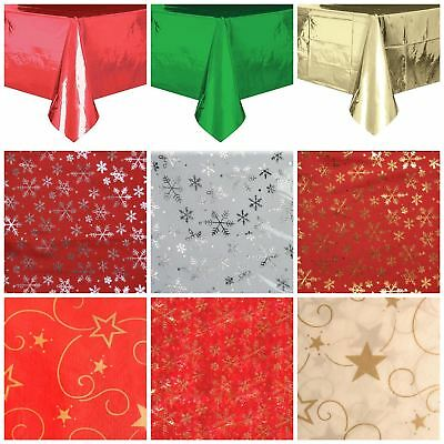 Christmas Party Table Covers Cloth Decorations Runners Catering Dining Xmas