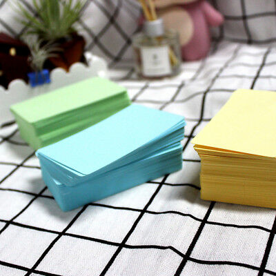 100x Blank Kraft Paper Business Cards Word Card Message Card DIY Gift 6A