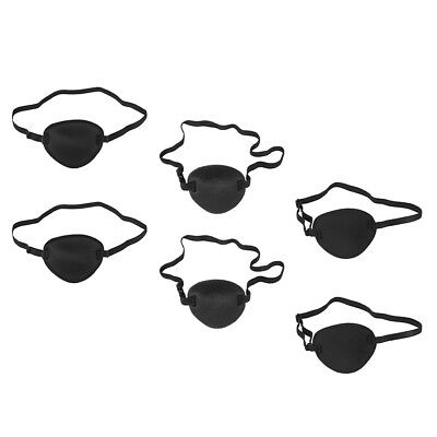 6pcs Pirate Eye Patch Mask Eyeshade Cover for Adult Kids Lazy Eye Amblyopia