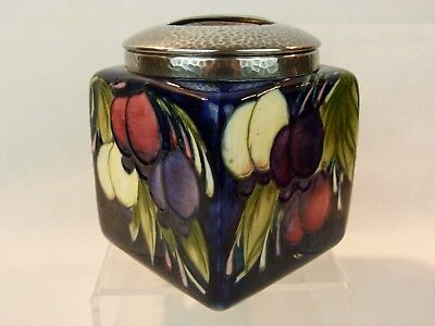 "A Rare Wm Moorcroft for Liberty & Co ""Wisteria"" Pattern Tudric Biscuit Box."