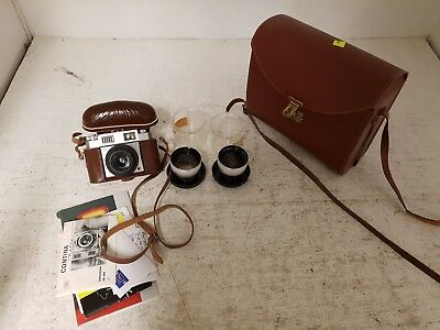 Zeiss Ikon Contina Vintage Camera With 2 Lens and Accessories USED (HC)