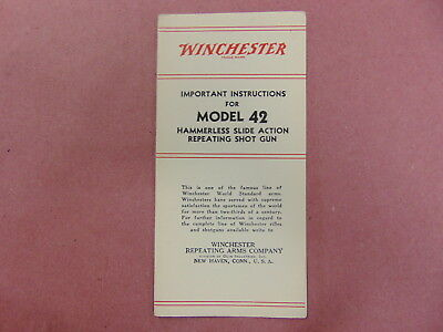 Winchester Model 42 Instruction Manual