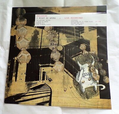 """Radiohead ' I Might Be Wrong ' Double Sided Display Promo Flat 12"""" x 12"""""""