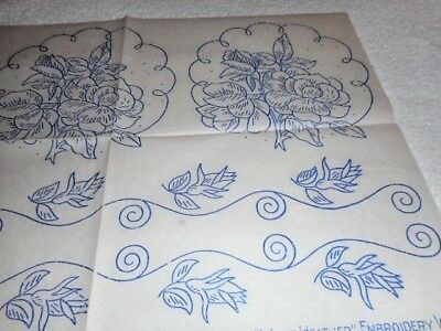 Vintage Embroidery Iron on Transfer- Stitchcraft - August 1940 - Flowers