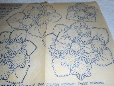 Vintage Embroidery Iron on Transfer - Weldons No.18382 - Flowers - Feb 1934
