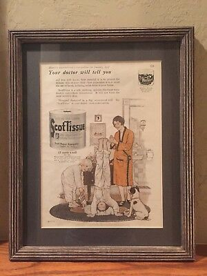 Vintage ScotTissue 1927 Cosmopolitan Ad Framed