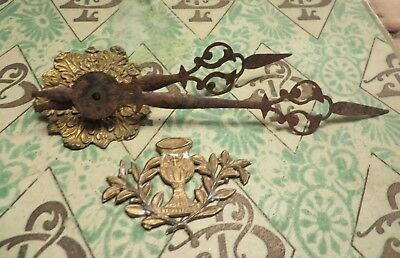 Divine Antique French Beautifully Detailed Clock Hands & Tole Mounts ~ Projects